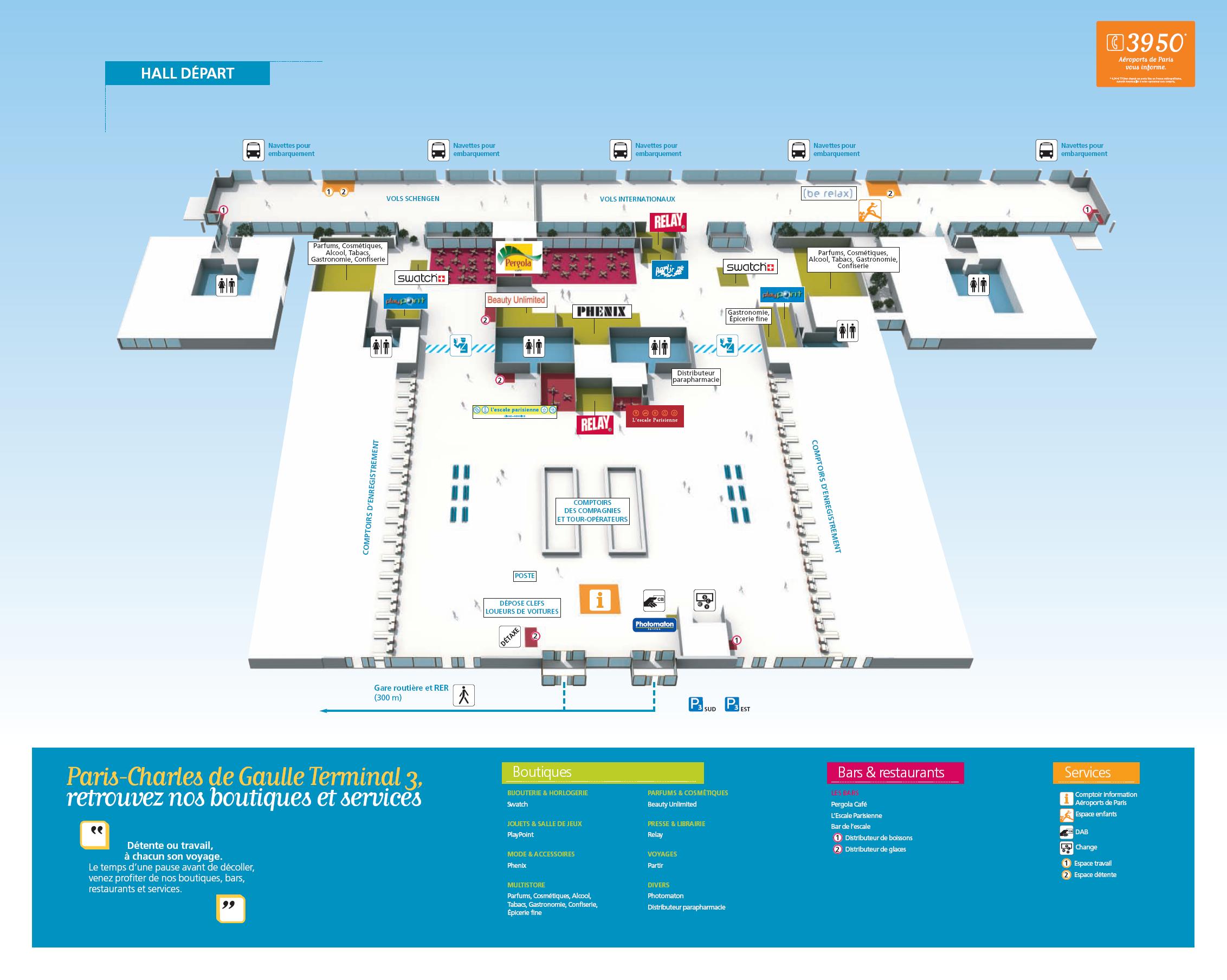 Аэропорт в париже схема на русском
